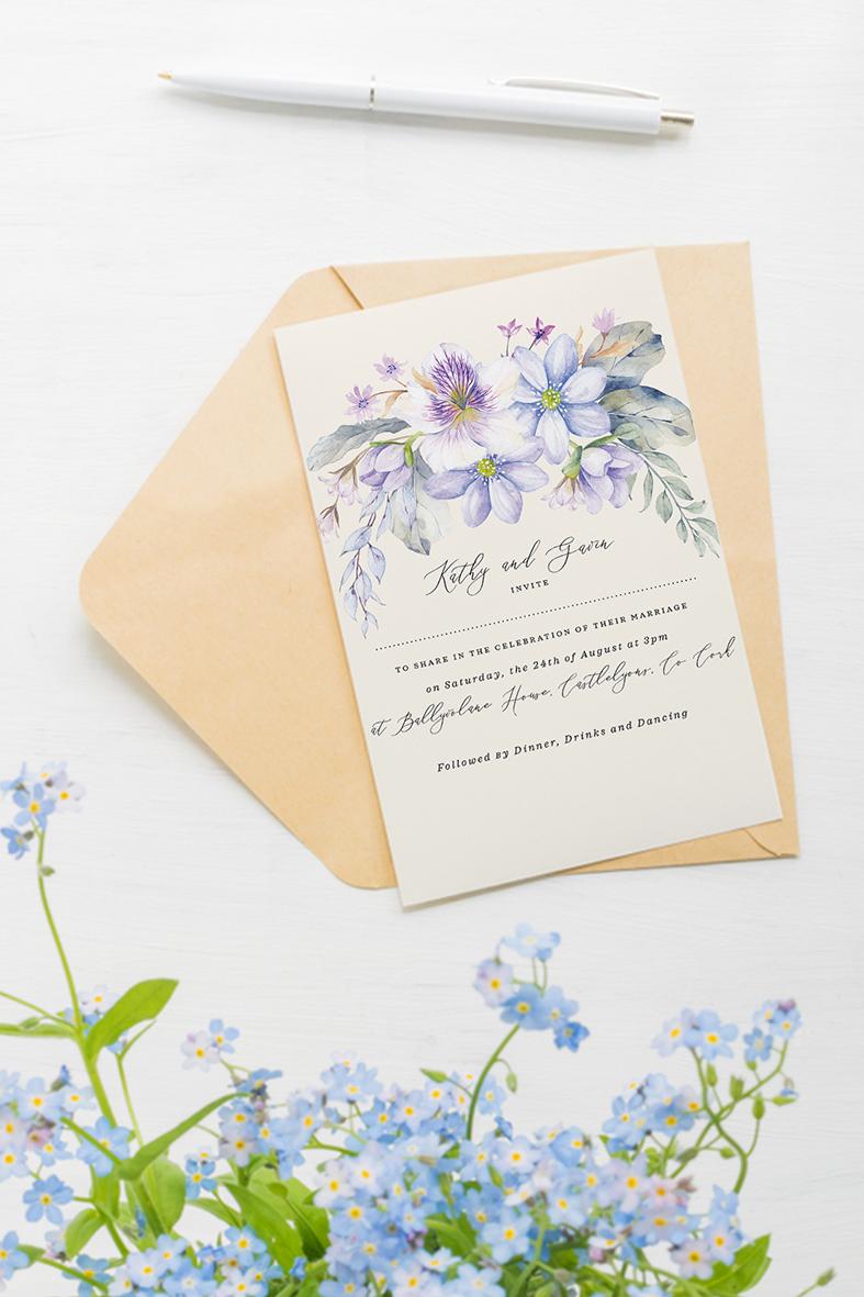 light blue wedding colour scheme invitations powder blue wedding invitations cork Ireland sky blue flowers for wedding Ireland