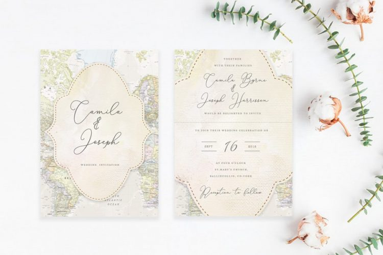 map style travel theme wedding destination wedding theme wedding abroad two countries wedding tourist style wedding vintage lane