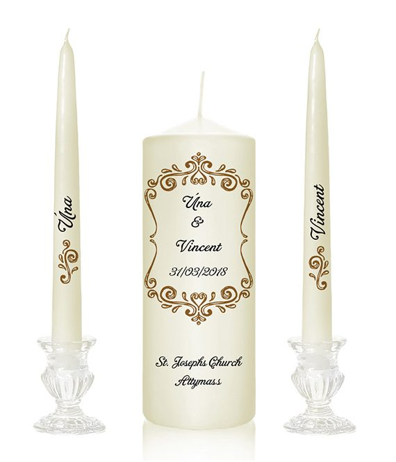 modern wedding candles modern pattern simple candles personalised candles plain design top candles ireland dublin delivery cork special pressie