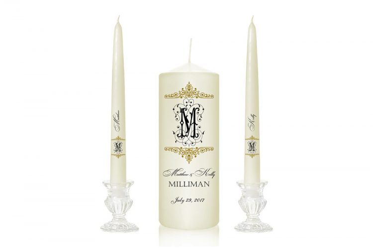 monogram contemporary candles unity candles cork unity candles dublin buy candles online ireland beautiful wedding candles special pressie cork