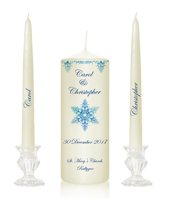 snowflake design winter wedding candles winter church candles winter season christmas season wedding cnadles christmas design candles buy online gift candles