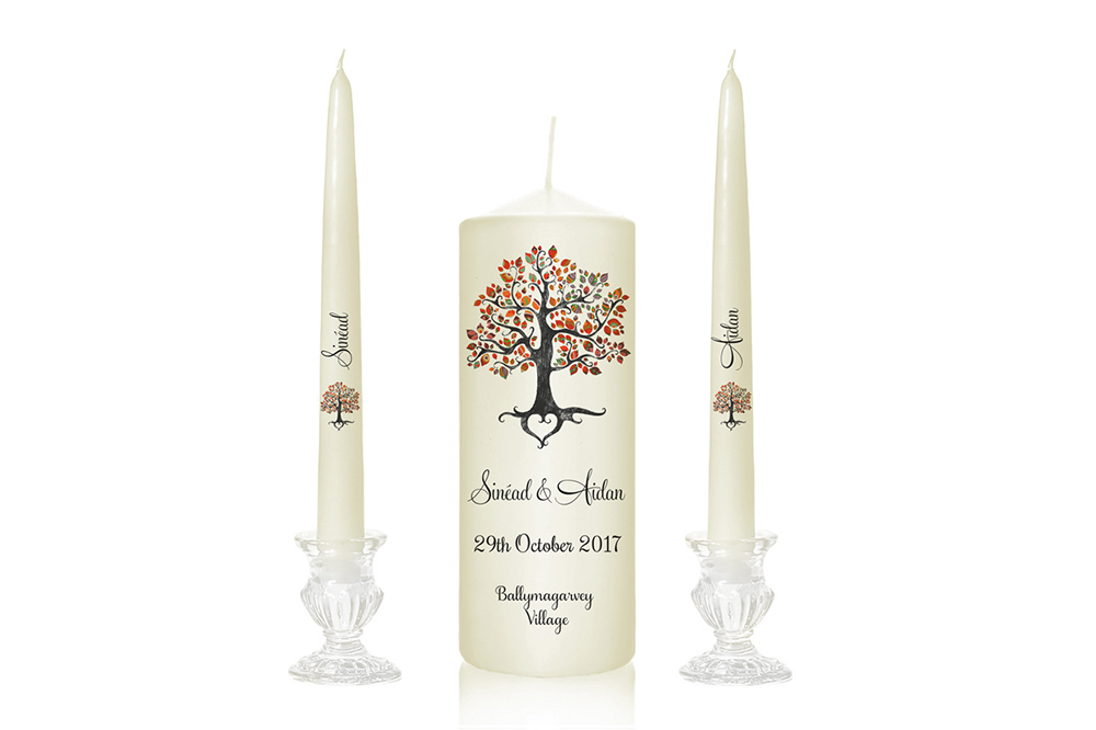 Personalised Unity Candle Set