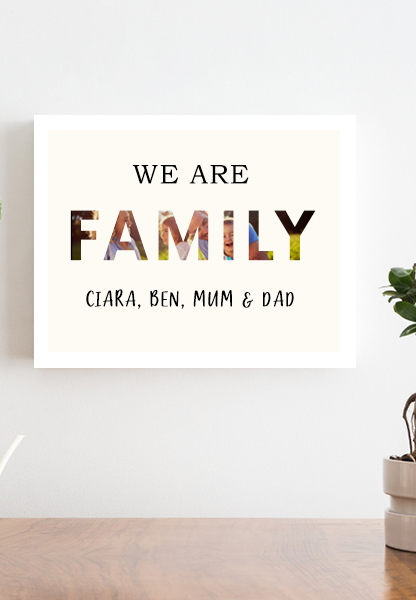 personalised family print large family print oversized printing beautiful large print anniversary prints printed home decor wall decor cork Ireland
