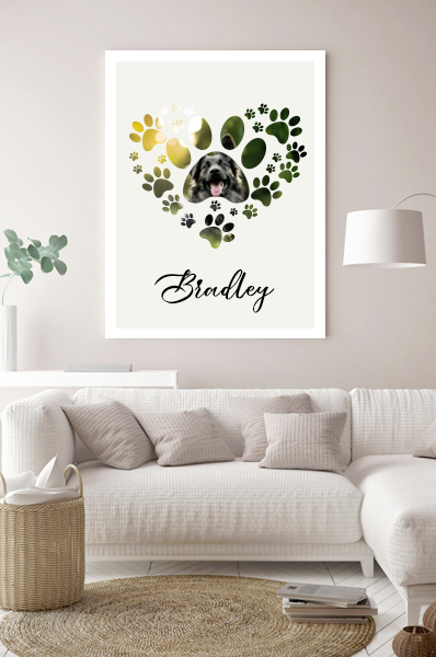 pet print personalised large pet print large photograph of pet printed gift for petlover
