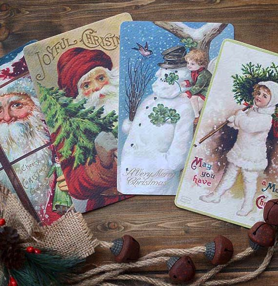 Christmas Cards Vintage Style Christmas Cards Cork Ireland Special Pressie Workshop