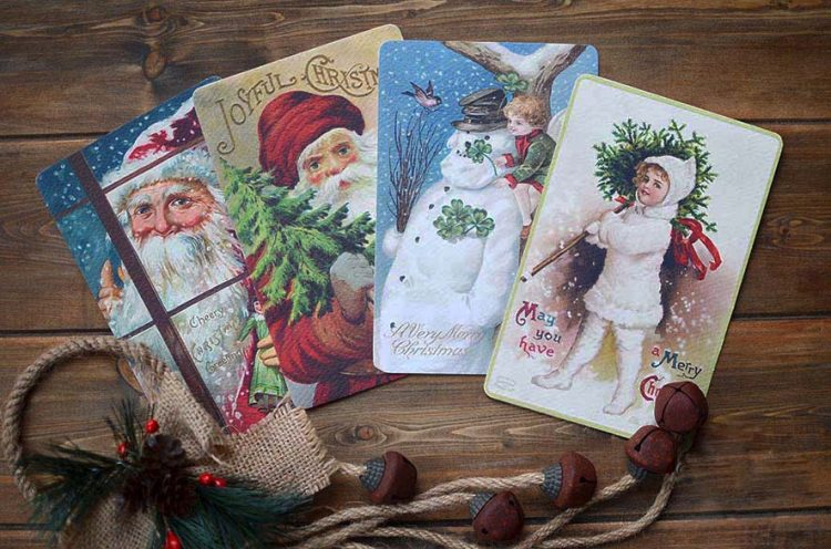 Christmas Cards Vintage Style Christmas Cards Cork Ireland Special Pressie Workshop