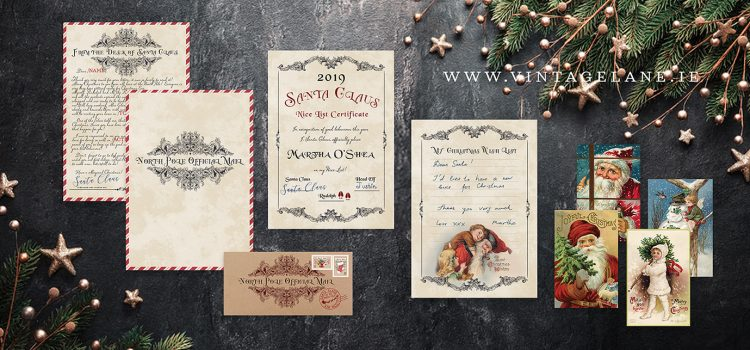 Christmas mail stationery Personalised Santa Claus Letter to a child Vintage Christmas Cards Antique Christmas Cards Vintage Letter Vintage Santa Claus Cork Ireland