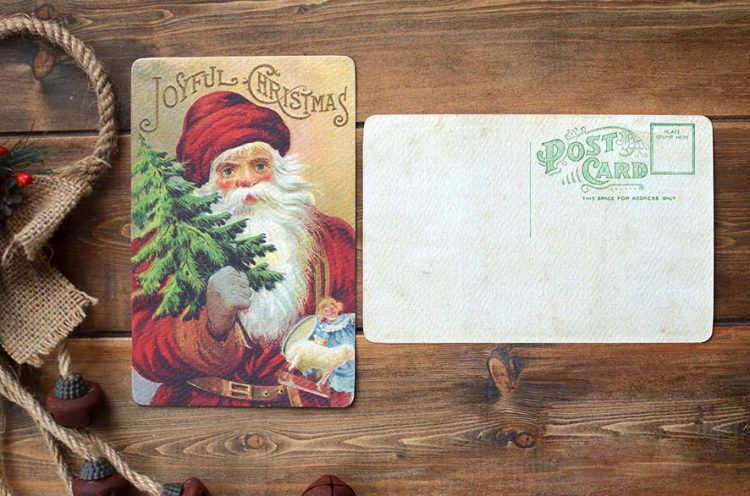 Joyful Christmas Vintage Christmas Old Santa Claus Old Cards Christmas Cards Vintage Style Christmas Cards Cork Ireland Special Pressie Workshop