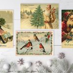 Noel Old Vintage Style Christmas Cards Noel Antique christmas cards scandinavian christmas postcards cork ireland