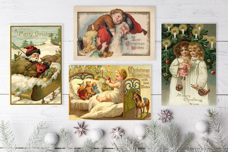 Noel Style Christmas Cards Noel Antique christmas cards scandinavian christmas postcards old style cork ireland