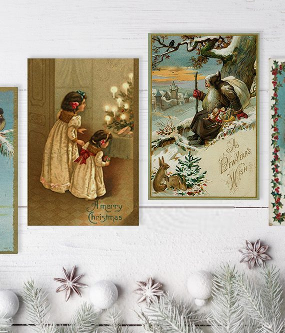 Vintage Style Christmas Cards Noel Antique christmas cards scandinavian christmas postcards cork ireland