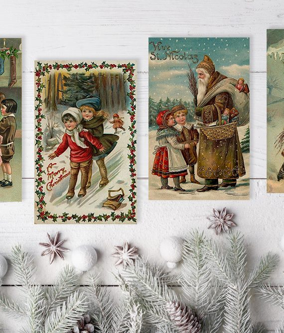 Vintage Style Xmas Cards Antique christmas cards scandinavian christmas postcards cork ireland