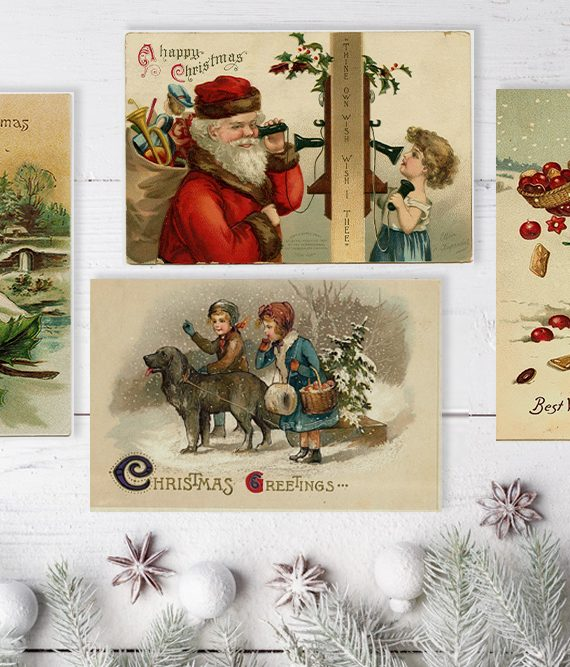 Vintage Style Xmas Cards Antique christmas cards scandinavian christmas postcards vintage children and santa printed cards cork ireland