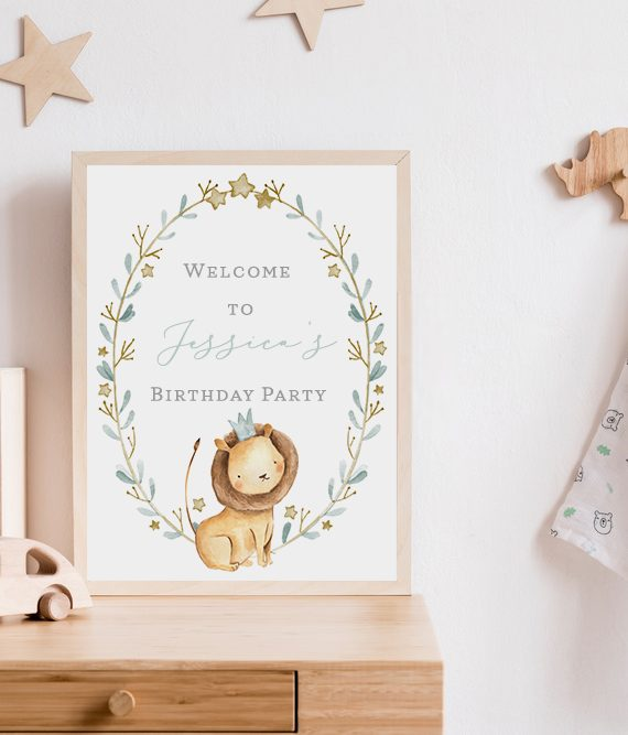 baby birthday party welcome sign Cork Ireland Christening Welcome sign Printed