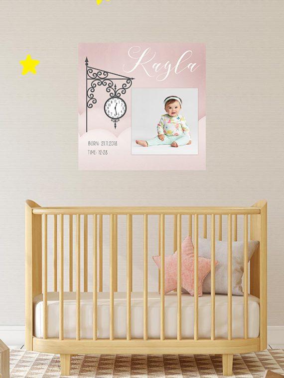 baby girl frame birth announcement present for baby boy personalised frame hand made cork ireland vintage lane instagram