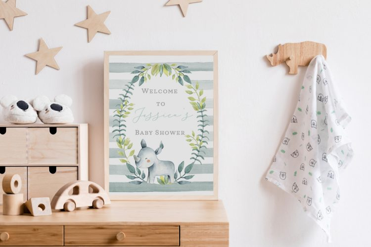 baby shower welcome sign Cork Ireland Christening Welcome sign Printed
