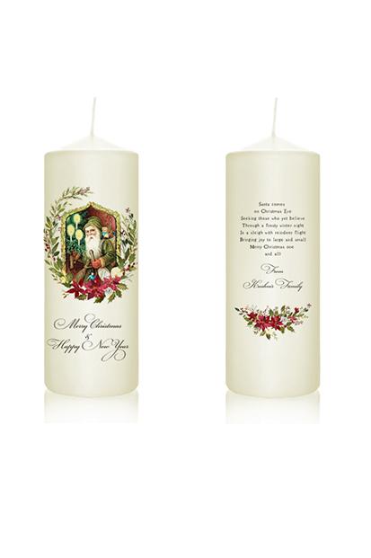 christmas candle vintage santa vintage christmas noel christmas gift