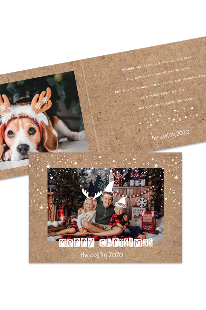 personalised photo christmas postcard cards vmodern xmas cards beautiful christmas cards made in ireland order online