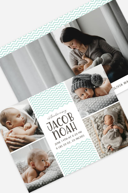 Baby Boy zigzag birth announcement Modern baby cards stationery contemporary occasion stationery cork ireland beautiful cards cute baby announcement cards ireland ballincollig
