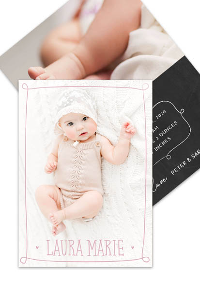 Baby announcement Modern baby cards stationery contemporary occasion stationery cork ireland