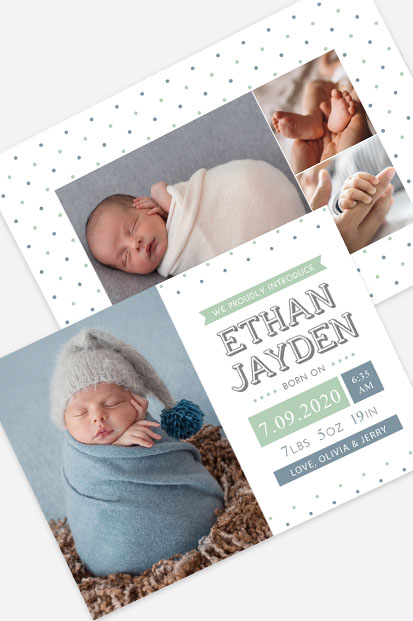Baby boy birth announcement Modern baby cards stationery contemporary occasion stationery cork ireland modern card printing ireland