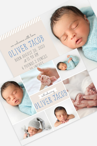 Baby boy birth announcement Modern baby cards stationery contemporary occasion stationery cork ireland
