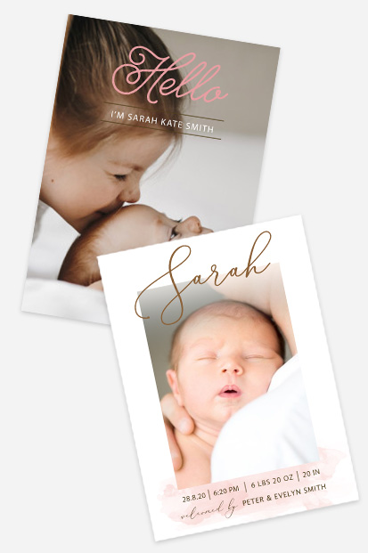 Baby girl birth announcement Modern baby cards stationery contemporary occasion stationery cork ireland beautiful cards cute baby announcement cards - preview