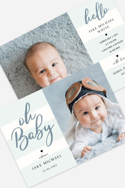 Blue colour baby birth announcement Modern baby cards stationery contemporary occasion stationery cork ireland beautiful cards cute baby announcement cards