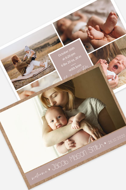 Collage style Baby boy birth announcement Modern baby cards stationery contemporary occasion stationery cork ireland beautiful cards cute baby announcement cards