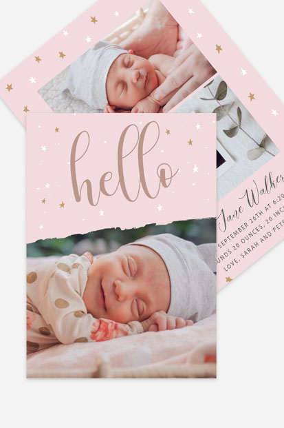 Quirky Baby girl announcement Modern baby girl cards stationery contemporary occasion stationery cork ireland