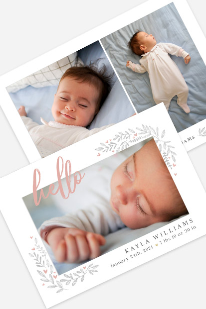 Rustic Style Girls birth announcement Modern baby cards stationery contemporary occasion stationery cork ireland beautiful cards cute baby announcement cards