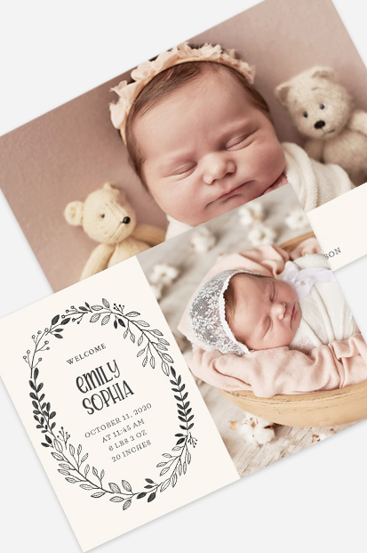 cute bear girl birth announcement photo cards cork ireland ballincollig printing invitations cards front