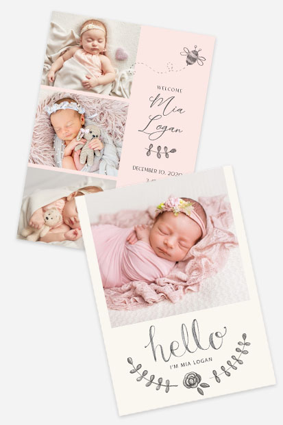 soft pink baby birth announcement card stationery dusk pink cards occasion stationery cork ireland