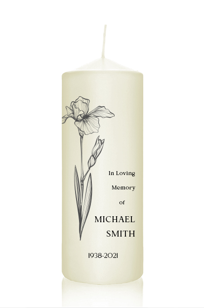 personalised memorial candle wedding remembrance candle cork Ireland church memorial candle ceremony candle ireland altar candles church ivory candles for funeral remembrance candles cork Ireland