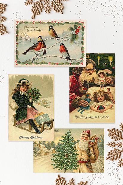 Christmas-Cards-2021-Vinatage-Cards-Antique-Xmas-Christmas-Noel-stationery-contemporary-occasion-stationery-cork-ireland-vintage-lane-ireland--2