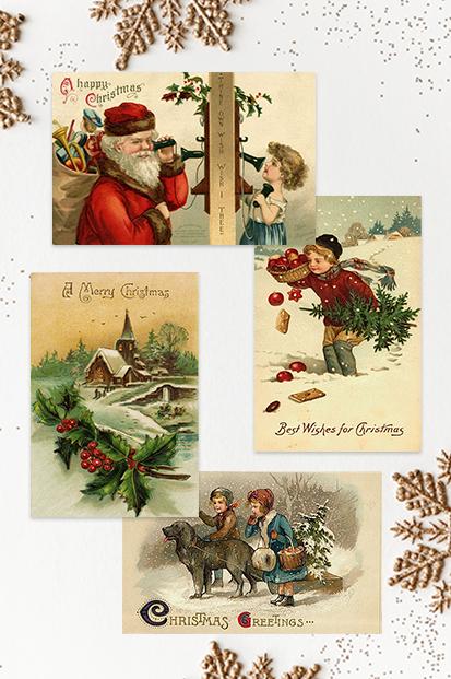 Christmas-Cards-Vinatage-Cards-Antique-Xmas-Christmas-Noel-stationery-contemporary-occasion-stationery-cork-ireland-vintage-lane-ireland--2
