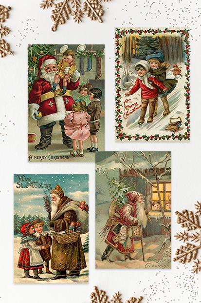 Christmas-Cards-Vinatage-Cards-Antique-Xmas-Christmas-Noel-stationery-contemporary-occasion-stationery-cork-ireland-vintage-lane-ireland-gifts