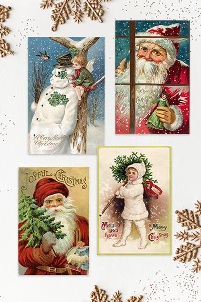 Christmas-Cards-Vinatage-Cards-Antique-Xmas-Christmas-Noel-stationery-contemporary-occasion-stationery-cork-ireland-vintage-lane-ireland